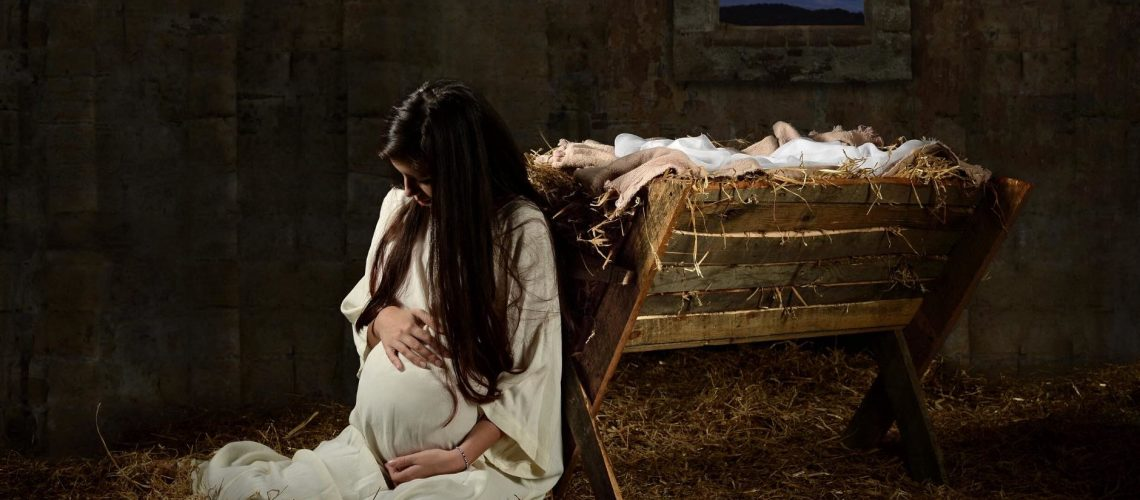 Mary by the Manger